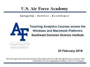 HQU S Air Air Force Academy Integrity Service