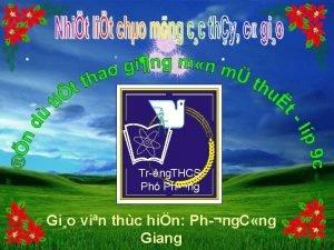 Tr ng THCS Ph Ph ng Gio vin