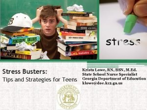 Stress Busters Tips and Strategies for Teens Krista