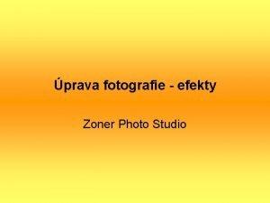 prava fotografie efekty Zoner Photo Studio prava fotografie