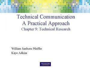 Technical Communication A Practical Approach Chapter 9 Technical