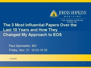 The 3 Most Influential Papers Over the Last
