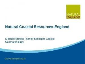 Natural Coastal ResourcesEngland Siobhan Browne Senior Specialist Coastal