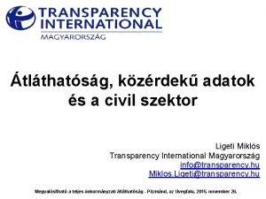 tlthatsg kzrdek adatok s a civil szektor Ligeti