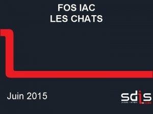 FOS IAC LES CHATS Juin 2015 Sommaire 2
