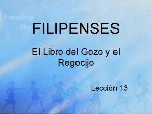 FILIPENSES El Libro del Gozo y el Regocijo