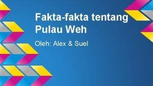 Faktafakta tentang Pulau Weh Oleh Alex Suel Letak