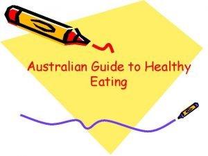 Australian Guide to Healthy Eating The Australian Guide