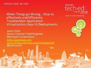 SESSION CODE CLI 307 When Things go Wrong