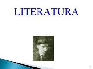LITERATURA 1 Escolas Literrias Quinhentismo Arcadismo RealismoNaturalismo Simbolismo