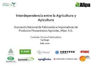 Interdependencia entre la Agricultura y Apicultura Asociacin Nacional