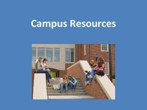 Campus Resources Three Types of Campus Resources Academic
