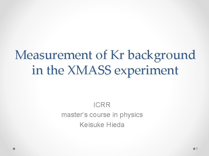 Measurement of Kr background in the XMASS experiment