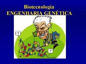 Biotecnologia ENGENHARIA GENTICA CLONAGEM DNA RECOMBINANTE TRANSGENIA TERAPIA