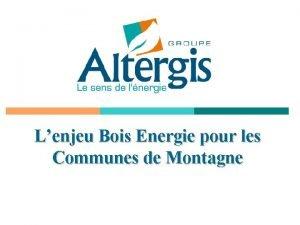 Lenjeu Bois Energie pour les Communes de Montagne