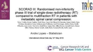 SCORAD III Randomised noninferiority phase III trial of