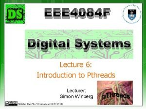 EEE 4084 F Digital Systems Lecture 6 Introduction