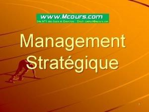 Management Stratgique 1 Dfinitions 2 Management Le management