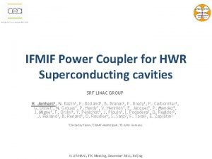IFMIF Power Coupler for HWR Superconducting cavities SRF