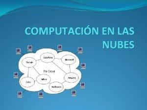 COMPUTACIN EN LAS NUBES COMPUTACIN EN LA NUBE