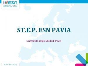 ST E P ESN PAVIA Universit degli Studi