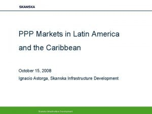 PPP Markets in Latin America and the Caribbean
