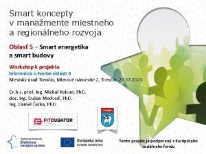 Smart koncepty v manamente miestneho a regionlneho rozvoja