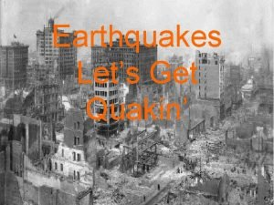 Earthquakes Lets Get Quakin KWL Earthquakes Activity at