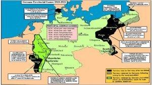 Station 1 German Territorial Losses 1919 1921 PostWorld
