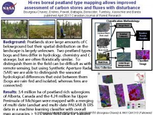 Hires boreal peatland type mapping allows improved assessment