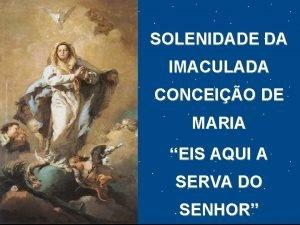 SOLENIDADE DA IMACULADA CONCEIO DE MARIA EIS AQUI