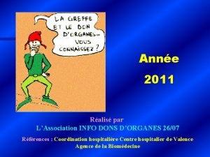 Anne 2011 Ralis par LAssociation INFO DONS DORGANES
