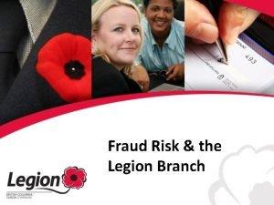 Fraud Risk the Legion Branch Definition of Fraud