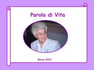 Parola di Vita Marzo 2012 Signore da chi