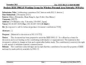 November 2013 Doc IEEE 802 15 13 0649