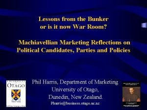 Lessons from the Bunker or is it now