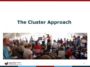 The Cluster Approach Global Shelter Cluster Shelter Cluster