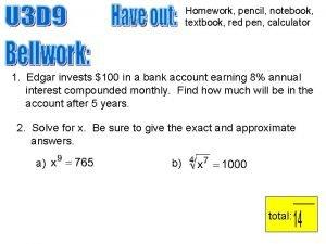 Homework pencil notebook textbook red pen calculator 1