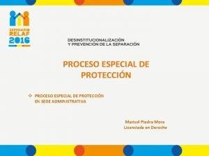 PROCESO ESPECIAL DE PROTECCIN v PROCESO ESPECIAL DE