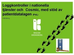 Loggkontroller i nationella tjnster och Cosmic med std