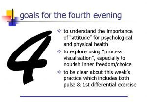 goals for the fourth evening to understand the