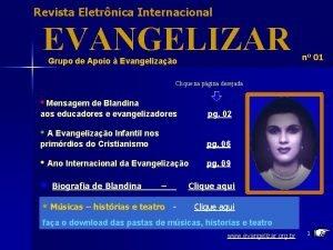 Revista Eletrnica Internacional EVANGELIZAR Grupo de Apoio Evangelizao