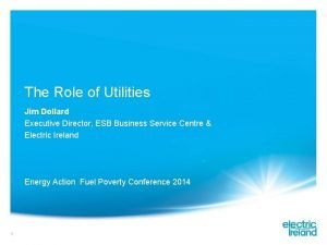 The Role of Utilities Jim Dollard Executive Director