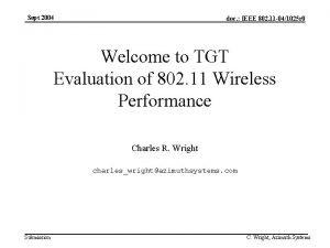 Sept 2004 doc IEEE 802 11 041025 r