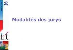 www iutfr net Modalits des jurys www iutfr