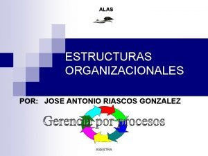 ALAS ESTRUCTURAS ORGANIZACIONALES POR JOSE ANTONIO RIASCOS GONZALEZ