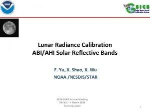 Lunar Radiance Calibration ABIAHI Solar Reflective Bands F