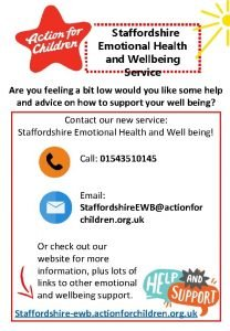 Staffordshire Emotional Health and Wellbeing Service Are you