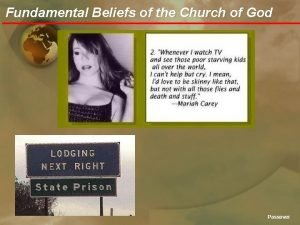 Fundamental Beliefs of the Church of God Passover