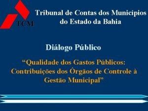 Tribunal de Contas dos Municpios do Estado da